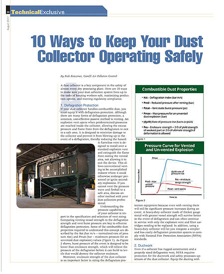 10 Ways to Keep Your Dust Collector Operating Safely