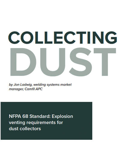 NFPA 68 Standard: Explosion venting requirements for dust collectors