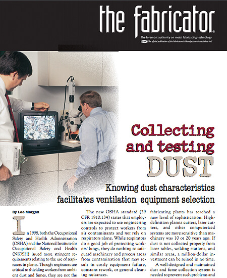 Collecting and Testing Dust