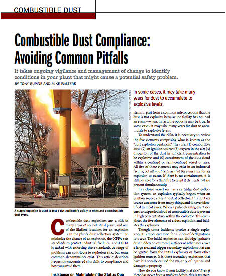 Combustible Dust Compliance: Avoiding Common Pitfalls
