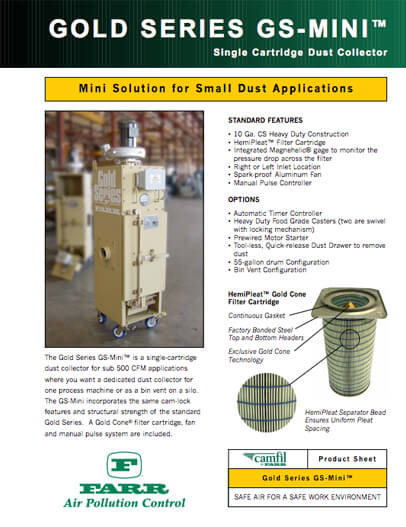 Industrial Dust Collector - Gold Series X-FLO | Camfill APC