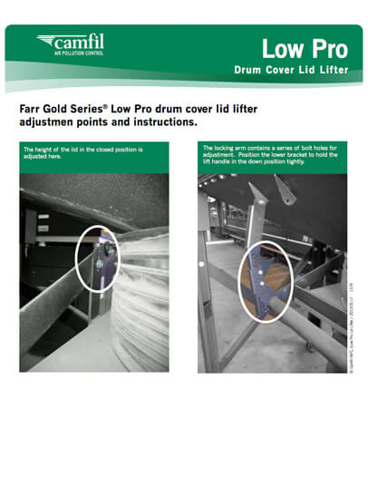 Low Pro Drum Cover Lid Lifter | Camfil APC