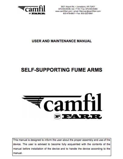 User Manual - Fume Arms
