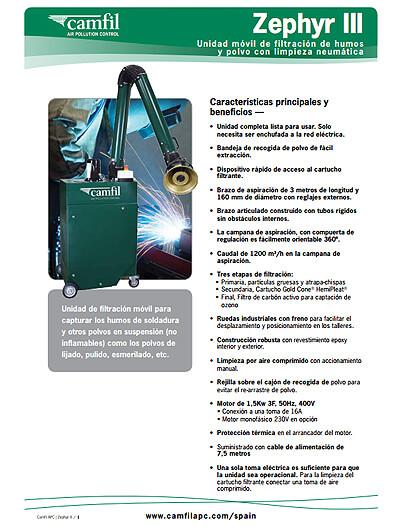Zephyr III Bulletin - Espanol