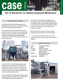 Pair of Gold Series® at a Battery Component Manufacturer