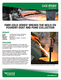 GOLD SERIES®  BREAKS THE MOLD ON FOUNDRY DUST AND FUME COLLECTION