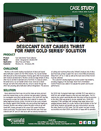 Desiccant Dust Causes Thirst for Farr Gold Series® Solution