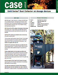 Gold Series® Dust Collector on dosage devices