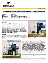 Gold Series Makes Impression in Foam Seat Mold Process
