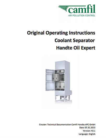 Instruction Manual - Handte Oil Expert