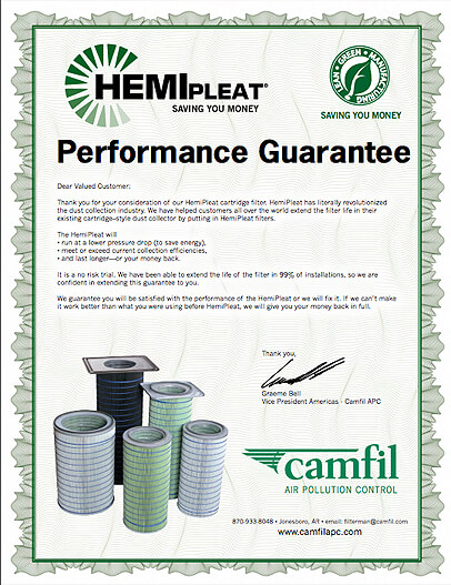 HemiPleat Performance Guarantee