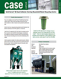 Gold Series® 32 Dust Collector Serving Household Waste Recycling Centre