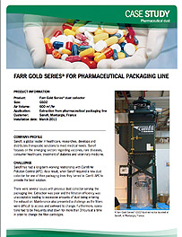 Farr Gold Series® for Pharmaceutical packaging Line