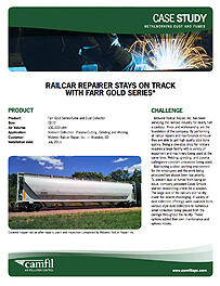 RAILCAR REPAIRER STAYS ON TRACK WITH FARR GOLD SERIES®