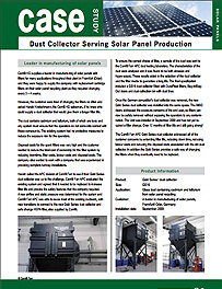 Dust Collector Serving Solar Panel Production