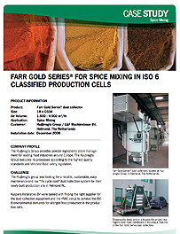 Gold Series® for Spice mixing in ISO 6 classified production cells
