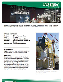 Potassium Sulfate Maker Reclaims Valuable Product with Gold Series