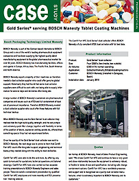 Gold Series® serving BOSCH Manesty Tablet Coating Machines