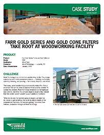 Gold Series and Gold Cone Filters take root at woodworking facility