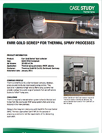 Farr Gold Series® for Thermal Spray Processes