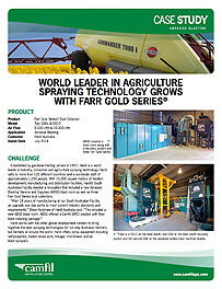 World Leader in Agriculture Spraying Technology Grows with Gold Series®