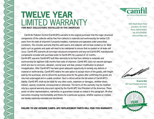 Twelve Year Limited Warranty