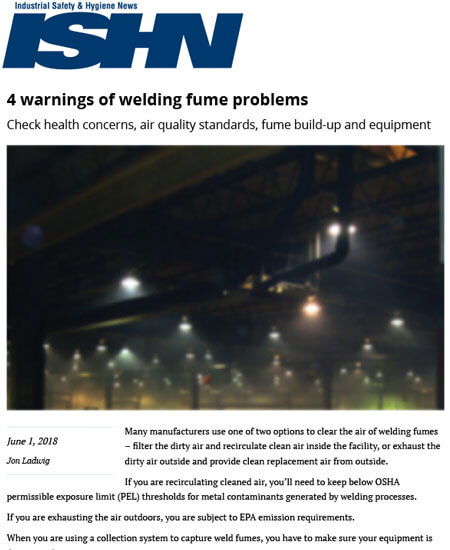 4 Warnings of Welding Fume Problems