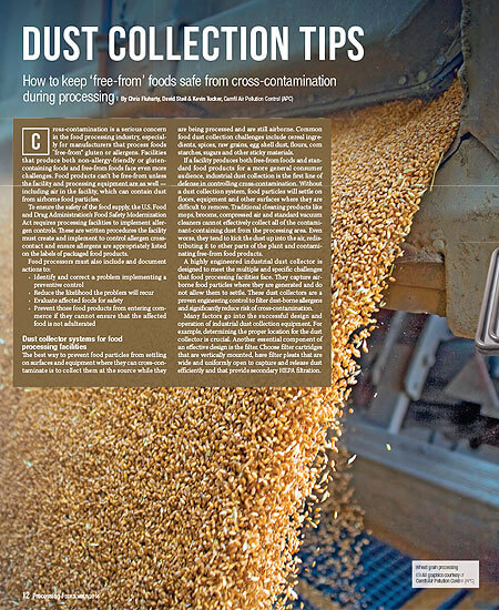 """Dust Collection Tips: How to keep """"free-from"""" foods safe from cross-contamination"""