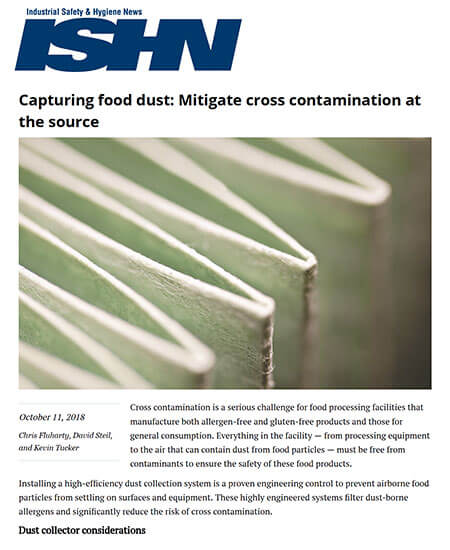 Capturing Food Dust: Mitigate Cross Contamination at the Source