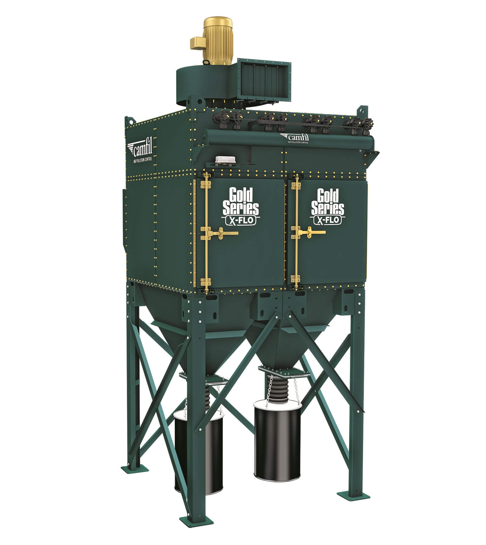 industrial dust collector camfil gold series x-flo