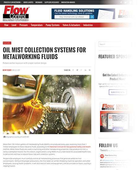 Oil Mist Collection Systems for Metalworking Fluids
