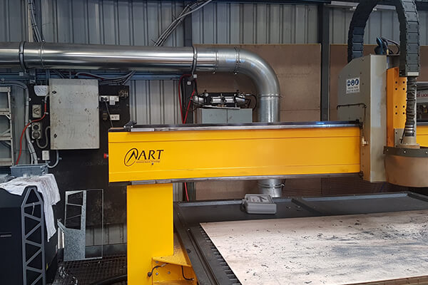 Dust extraction fitted to plasma table at Jag Welding in Queensland Australia
