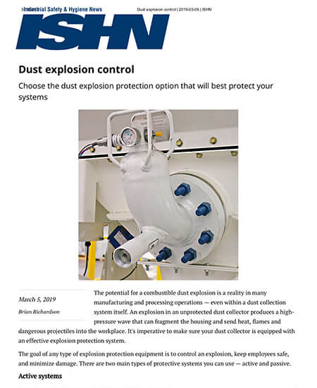Dust Explosion Control