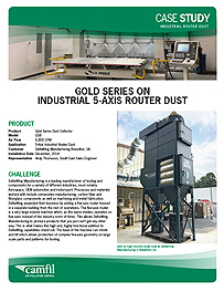Gold Series on Industrial 5-Axis Router Dust