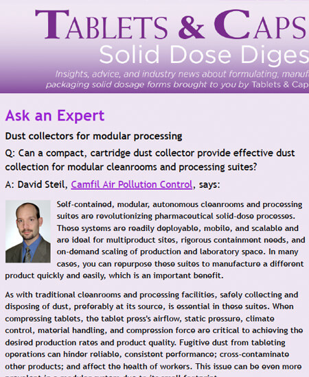 Dust collectors for modular processing