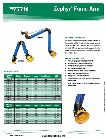 Zephry® Fume Arm