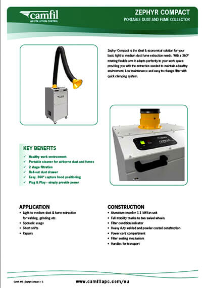 Zephyr Compact Product Sheet