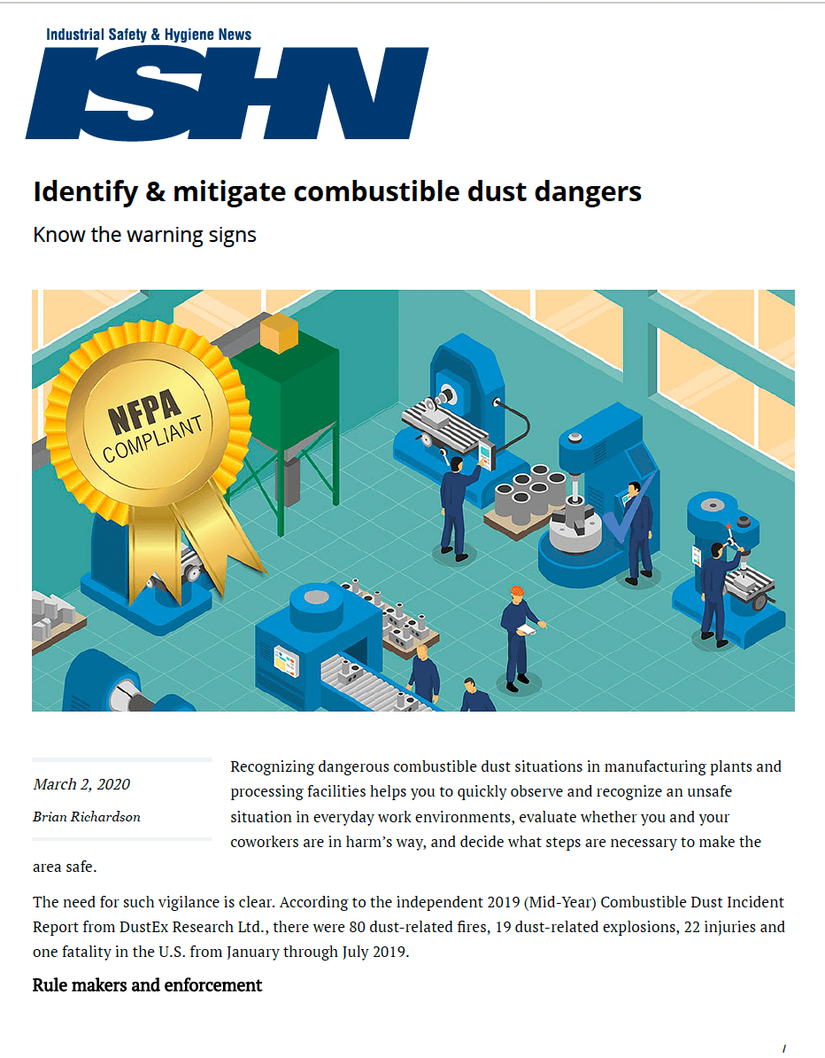 Identify & Mitigate Combustible Dust Dangers: Know the Warning Signs