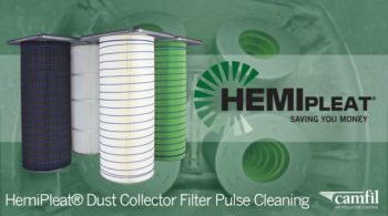 HemiPleat® Dust Collector Filter Pulse Cleaning